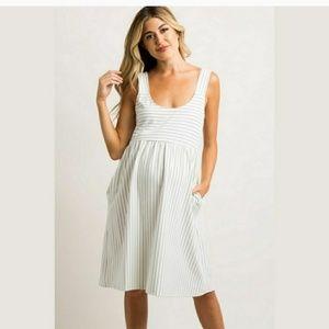 Pinkblush Striped Maternity Dress